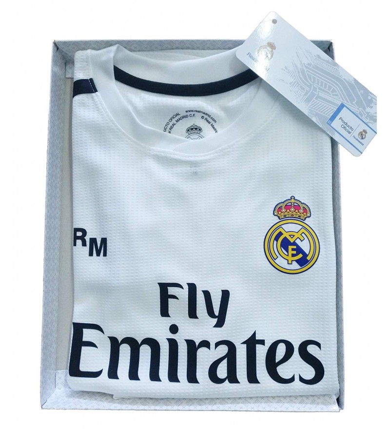separation shoes b317a 09de7 Official Replica Infantil Kit Real Madrid FC First Equipment 2018/2019