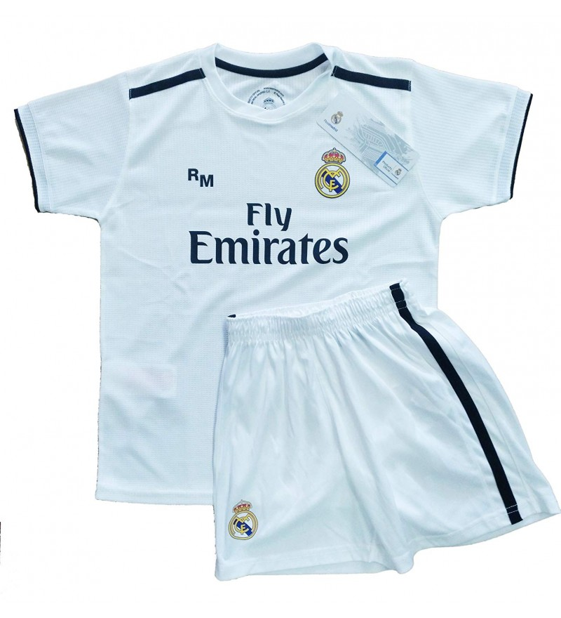 separation shoes 135de 9a184 Official Replica Infantil Kit Real Madrid FC First Equipment 2018/2019