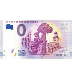 Euro Billetes Oso y del Madroño