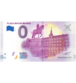 Euro Billetes Plaza Mayor Madrid