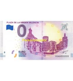 Euro Bills Plaza Virgen from Valencia