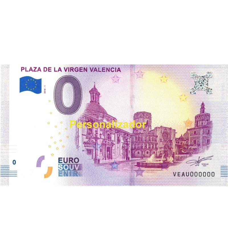 Billete Zero EURO Valencia