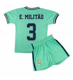 Kit Shirt and Pant Children Third Kit - Real Madrid - Authorized Replica - 3 - Militao
